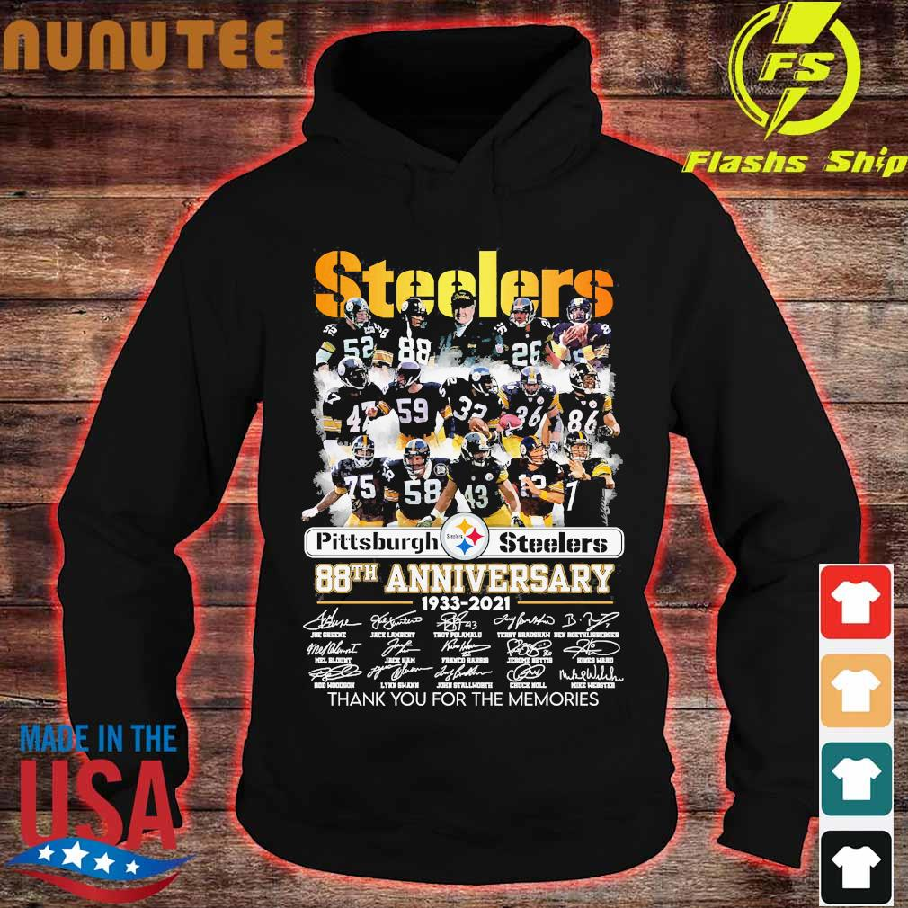 Pittsburgh Steelers 88th anniversary 1933 2020 thank You for the memories signatures s hoodie