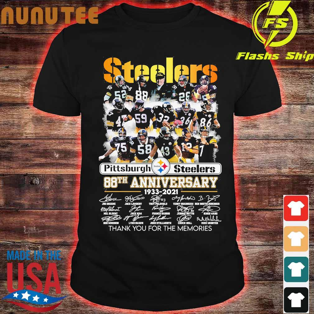 Pittsburgh Steelers 88th anniversary 1933 2020 thank You for the memories signatures shirt