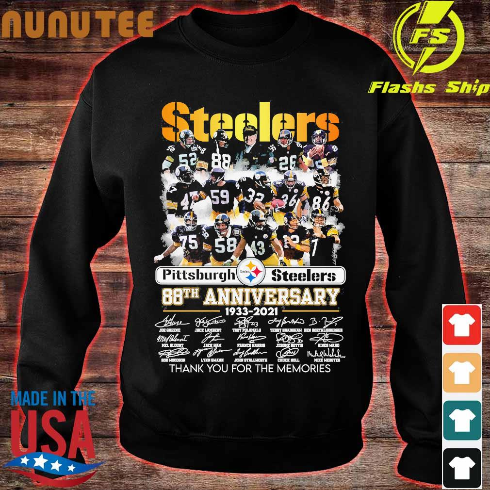Pittsburgh Steelers 88th anniversary 1933 2020 thank You for the memories signatures s sweater