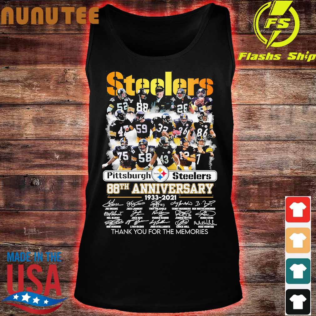 Pittsburgh Steelers 88th anniversary 1933 2020 thank You for the memories signatures s tank top