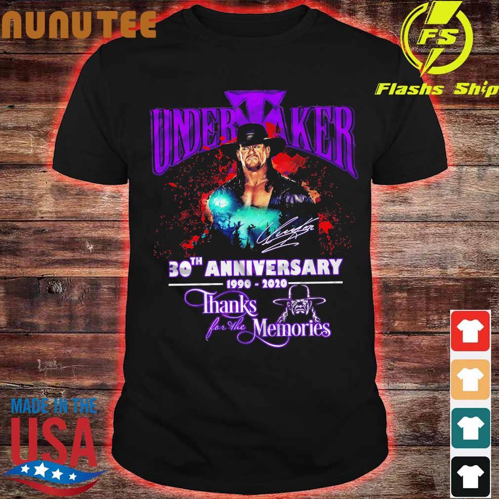 Undertaker 30th anniversary 1990 2020 thank for the memories signature shirt