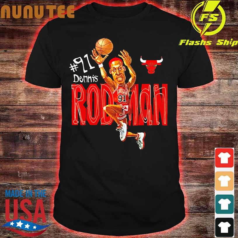 #91 dennis Rodman shirt